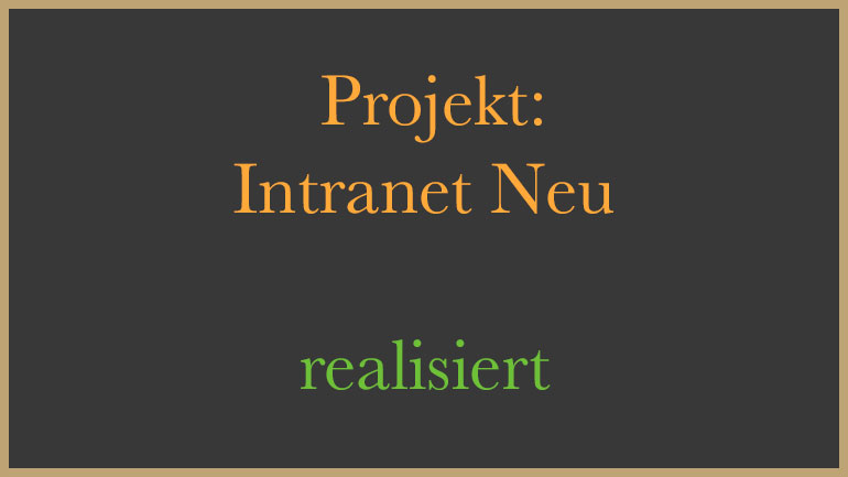 Intranet Neu